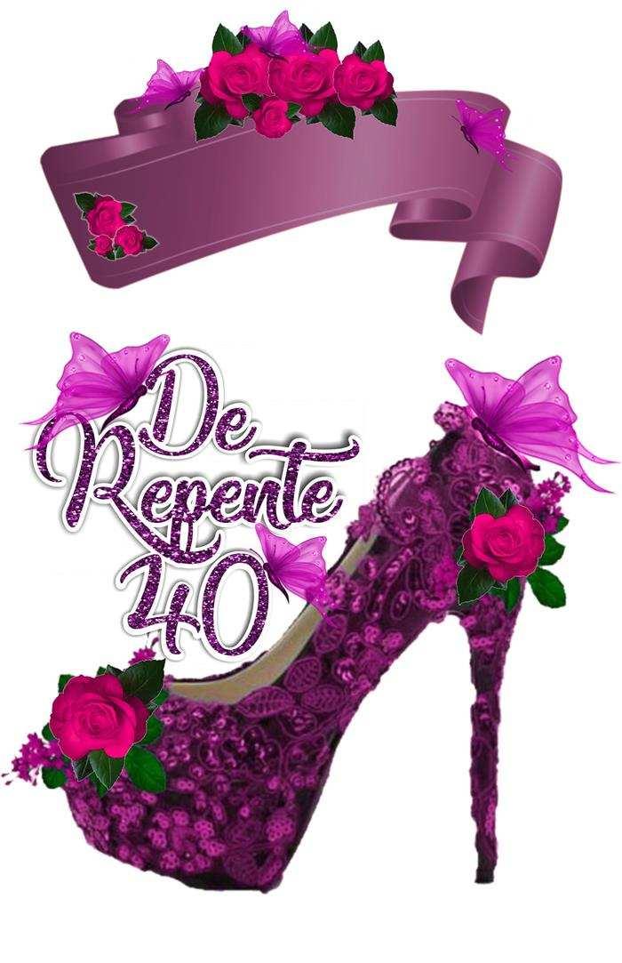 de repente 40 em lilás e rosa