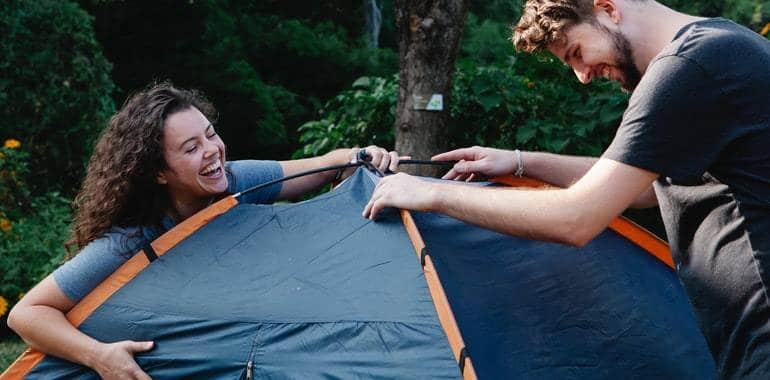 camping em casa