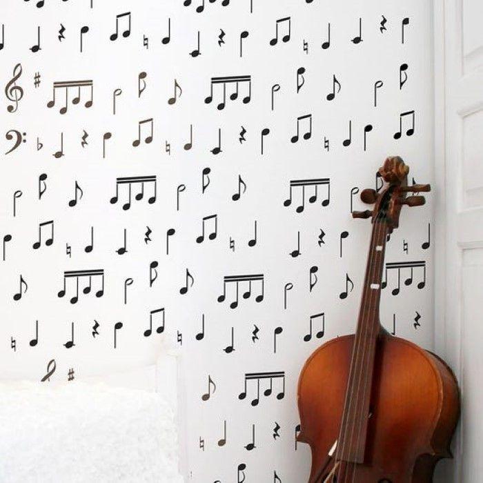 stencil de musica