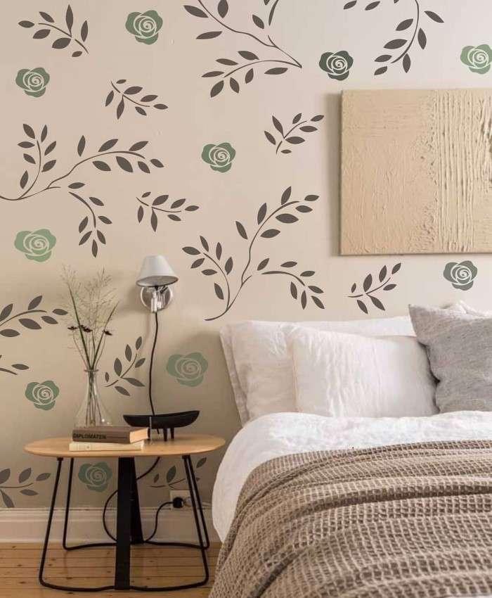 decoração de parede com stencil
