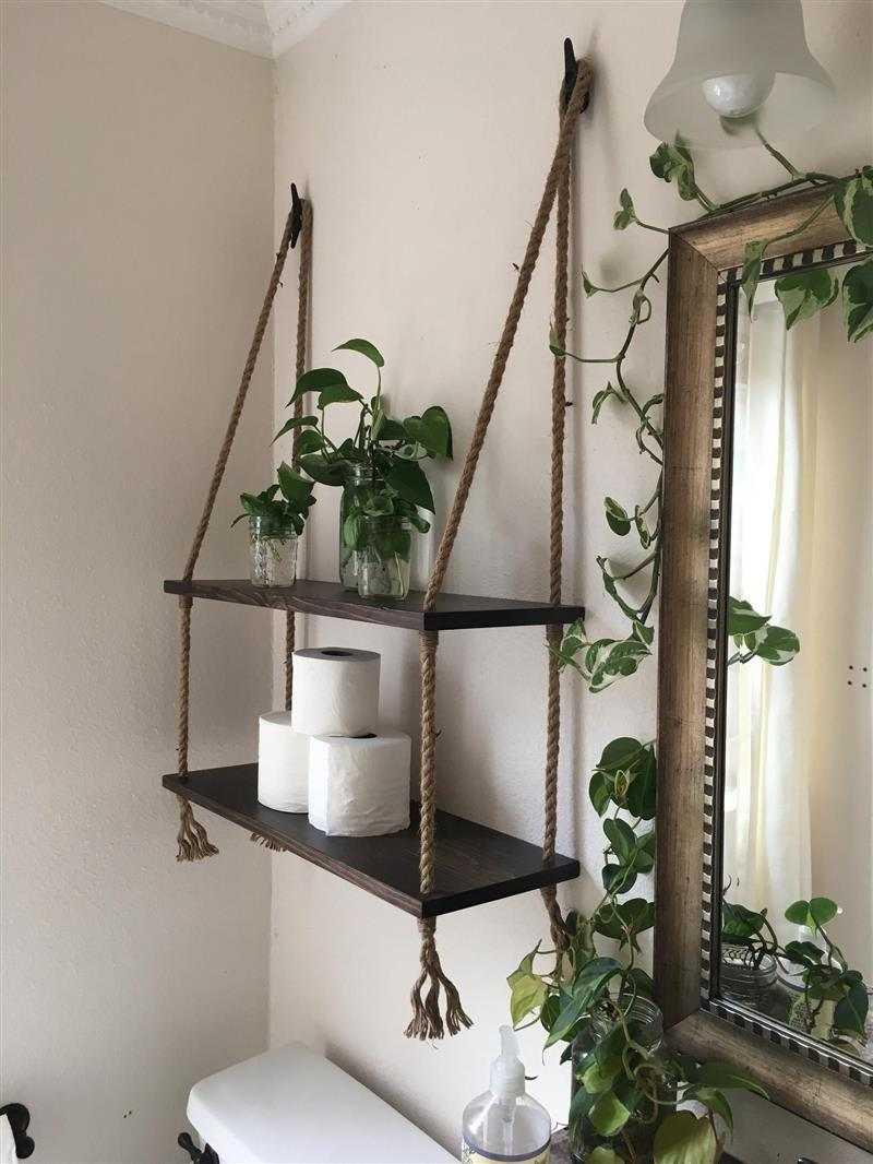 prateleira de corda banheiro