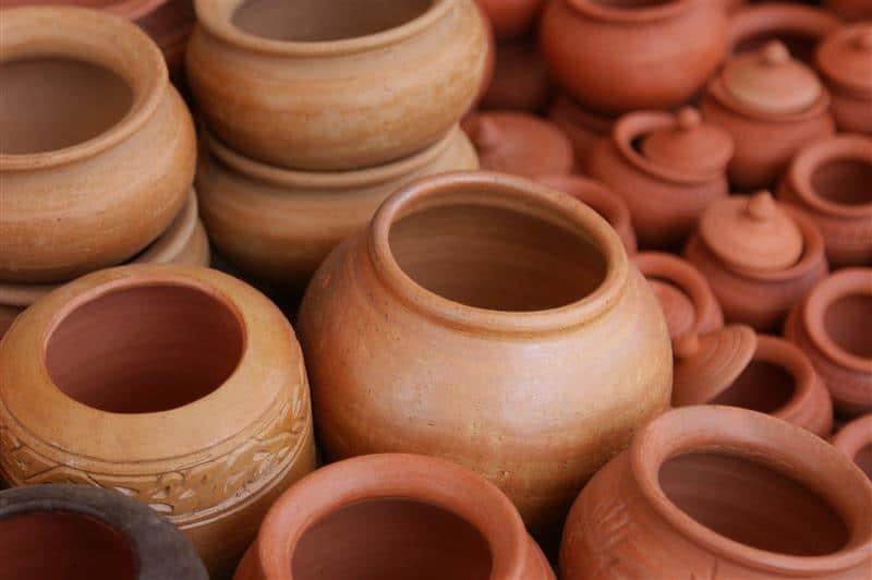 vasos de argila