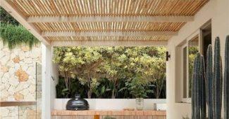 modelos de pergolado bambu