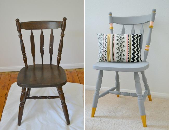 reforma de uma cadeira de madeira