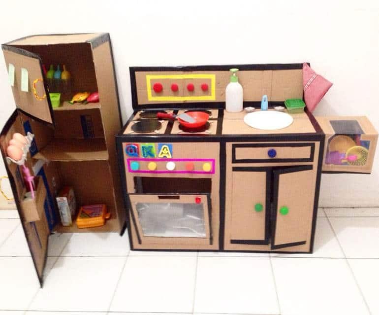 geladeira de papelao